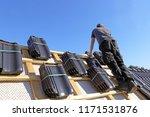 roofing contractors working on...   Shutterstock . vector #1171531876