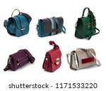 group of women leather handbags ... | Shutterstock . vector #1171533220