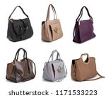 group of women leather handbags ... | Shutterstock . vector #1171533223