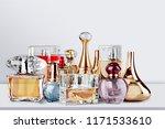 aromatic perfume bottles on... | Shutterstock . vector #1171533610