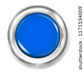 big blue plastic button with... | Shutterstock . vector #1171534009