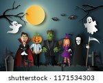 Paper Art Style Of Halloween...