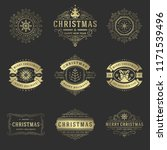 christmas labels and badges... | Shutterstock .eps vector #1171539496