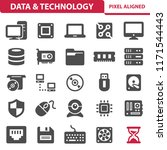 data   technology icons.... | Shutterstock .eps vector #1171544443