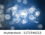 abstract of modern high tech... | Shutterstock . vector #1171546213