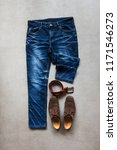 blue jeans  casual shoes and... | Shutterstock . vector #1171546273