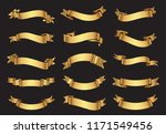 golden ribbons set.gold ribbon... | Shutterstock .eps vector #1171549456