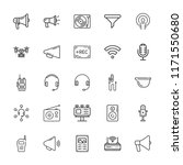 collection of 25 radio outline... | Shutterstock .eps vector #1171550680
