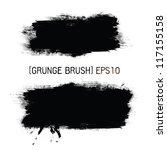 ink splat banners with grunge... | Shutterstock .eps vector #117155158