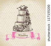 Wedding Cake. Hand Drawn...