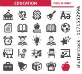 education icons. professional ... | Shutterstock .eps vector #1171552996