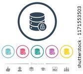 unlock database flat color... | Shutterstock .eps vector #1171553503
