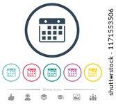 hanging calendar flat color... | Shutterstock .eps vector #1171553506