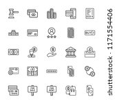 collection of 25 credit outline ... | Shutterstock .eps vector #1171554406