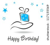 Happy Birthday Card With Gift...