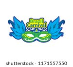 modern brazil carnival mask...   Shutterstock .eps vector #1171557550