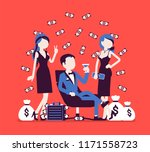 rich young playboy. wealthy... | Shutterstock .eps vector #1171558723