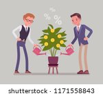 investment and profit grow.... | Shutterstock .eps vector #1171558843