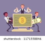 cryptocurrency wealth. young... | Shutterstock .eps vector #1171558846