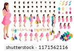 isometrics create your pregnant ...   Shutterstock .eps vector #1171562116