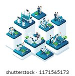 isometric medina concept of the ... | Shutterstock .eps vector #1171565173