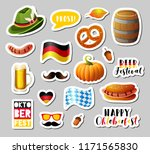 set of oktoberfest vector... | Shutterstock .eps vector #1171565830