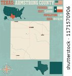 detailed map of armstrong... | Shutterstock .eps vector #1171570906