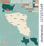 detailed map of austin county... | Shutterstock .eps vector #1171571149