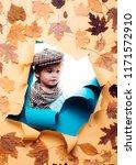 autumn leaves festival. logo...   Shutterstock . vector #1171572910