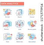 data analytics and business... | Shutterstock .eps vector #1171575916