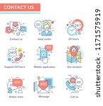 contact us icons  thin line... | Shutterstock .eps vector #1171575919