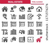 real estate icons. professional ... | Shutterstock .eps vector #1171576276
