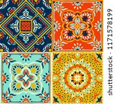 talavera pattern.  indian... | Shutterstock .eps vector #1171578199