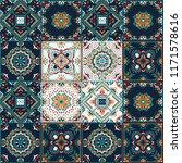 talavera pattern.  indian... | Shutterstock .eps vector #1171578616