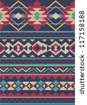 seamless knitted wool pattern... | Shutterstock .eps vector #117158188