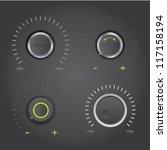 volume control knob set   dark... | Shutterstock .eps vector #117158194