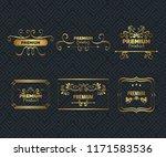 set premium quality golden... | Shutterstock .eps vector #1171583536