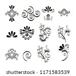 set victorian and floral... | Shutterstock .eps vector #1171583539