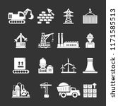 industry icons set white... | Shutterstock . vector #1171585513