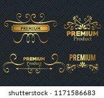 set premium quality golden...   Shutterstock .eps vector #1171586683