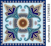bandanna with circle decorative ... | Shutterstock .eps vector #1171590853