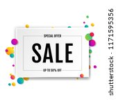 sale banner with ball white... | Shutterstock .eps vector #1171595356