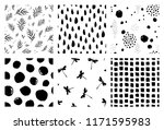 collection of seamless pattern. ... | Shutterstock .eps vector #1171595983
