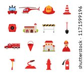 set of fire station icons.... | Shutterstock .eps vector #1171599196