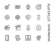 collection of 16 conceptual... | Shutterstock .eps vector #1171611976