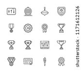 collection of 16 achievement... | Shutterstock .eps vector #1171612126
