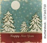new year card with christmas... | Shutterstock .eps vector #117161710