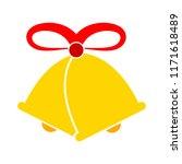 vector christmas bell... | Shutterstock .eps vector #1171618489