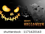 haunted house and full moon... | Shutterstock .eps vector #1171620163