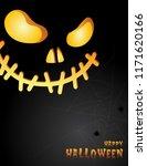 halloween night background with ... | Shutterstock .eps vector #1171620166